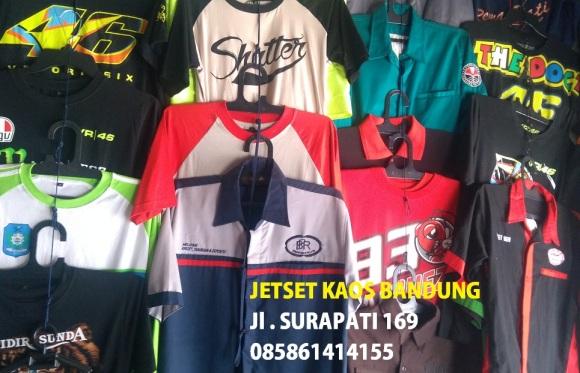 Pusat Tempat Pembuatan Kaos Sablon Polo Shirt Baju Kemeja jaket Rompi Jas Almamater Kampus Distro Berkualitas Terbaik di Bandung Jakarta Indonesia